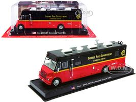 2005 LDV Command Fire Truck Red Black Chicago Fire Department Illinois 1/64 Diecast Model Amercom ACGB13