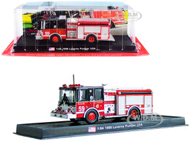 1998 Luverne Pumper Fire Engine Red Black Chicago Fire Department Illinois 1/64 Diecast Model Amercom ACGB17