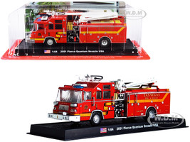 2001 Pierce Quantum Snozzle Fire Engine Red Las Vegas Fire Rescue Department Nevada 1/64 Diecast Model Amercom ACGB19