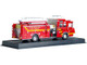 2001 Pierce Quantum Snozzle Fire Engine Red Las Vegas Fire Rescue Department Nevada 1/64 Diecast Model Amercom ACGB19