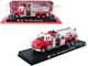 1999 Freightliner Tanker Fire Engine Red White Volunteer Fire Department 1/64 Diecast Model Amercom ACGB21