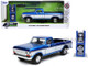 1979 Ford F-150 Custom Pickup Truck Candy Blue White Extra Wheels Just Trucks Series 1/24 Diecast Model Car Jada 32309
