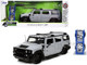 Hummer H2 Gray Extra Wheels Just Trucks Series 1/24 Diecast Model Car Jada 32310
