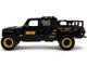 2020 Jeep Gladiator Pickup Truck Black B&M Graphics Extra Wheels Just Trucks Series 1/24 Diecast Model Car Jada 32423