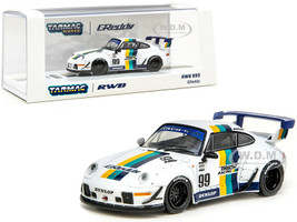 Porsche RWB 993 #99 GReddy White Stripes RAUH-Welt BEGRIFF 1/64 Diecast Model Car Tarmac Works T64-017-GDY