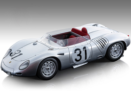 Porsche 718 RSK #31 Jo Bonnier Wolfgang von Trips 24 Hours of Le Mans 1959 Mythos Series Limited Edition 110 pieces Worldwide 1/18 Model Car Tecnomodel TM18-145A