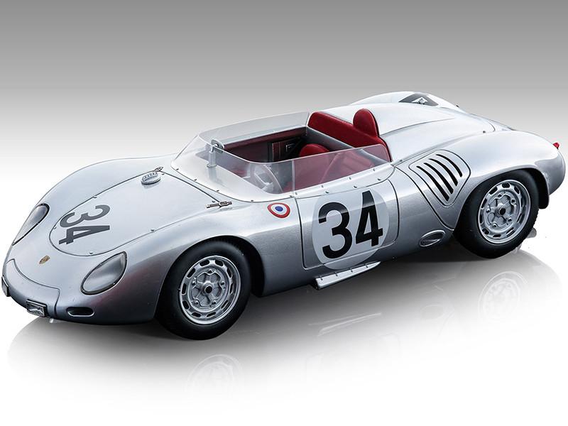 Porsche 718 RSK #34 Edgar Barth Wolfgang Seidel 24 Hours of Le Mans 1959 Mythos Series Limited Edition 75 pieces Worldwide 1/18 Model Car Tecnomodel TM18-145C