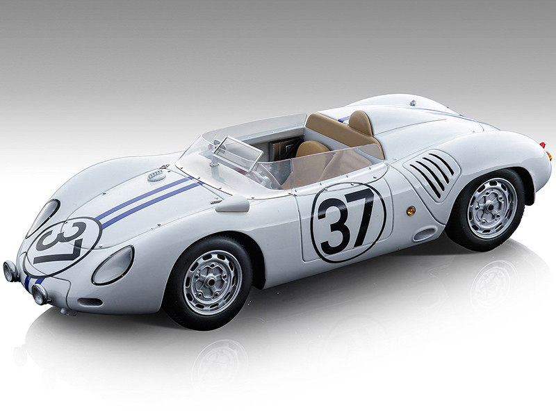 Porsche 718 RSK #37 Ed Hugus Ray Erickson 24 Hours of Le Mans 1959 Mythos Series Limited Edition 80 pieces Worldwide 1/18 Model Car Tecnomodel TM18-145E