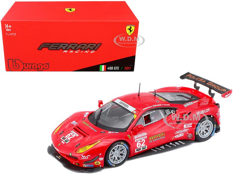 Ferrari 488 GTE #62 Fisichella Vilander Calado 24 Hours of Daytona 2017 1/43 Diecast Model Car Bburago 36301