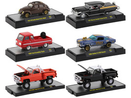 Auto Trucks 6 piece Set Release 62 DISPLAY CASES 1/64 Diecast Model Cars M2 Machines 32500-62
