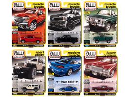Autoworld Premium 2020 Set B of 6 pieces Release 5 1/64 Diecast Model Cars Autoworld 64282 B