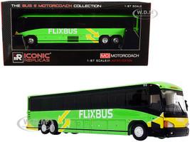 MCI D4505 Motorcoach Bus Phoenix Arizona Flixbus Bright Green Yellow The Bus & Motorcoach Collection 1/87 HO Diecast Model Iconic Replicas 87-0220
