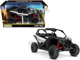 CAN-AM Maverick X3 ATV Hyper Silver Red 1/18 Diecast Model New Ray 58193 A