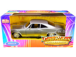 1965 Chevrolet Impala SS 396 Gray Metallic Low Rider Collection 1/24 Diecast Model Car Welly 22417