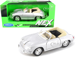 Porsche 356B Roadster Silver NEX Models 1/24 Diecast Model Car Welly 29390