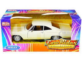 1965 Chevrolet Impala SS 396 Beige Low Rider Collection 1/24 Diecast Model Car Welly 22417