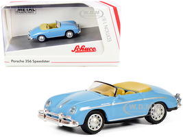 Porsche 356 Speedster Light Blue 1/87 HO Diecast Model Car Schuco 452649800