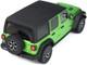 Jeep Wrangler Rubicon Mojito Green Metallic Black Top Limited Edition 999 pieces Worldwide 1/18 Model Car GT Spirit GT278