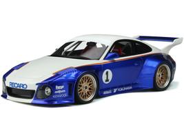 Porsche 997 Old New Body Kit #1 Recaro White Candy Blue Limited Edition 999 pieces Worldwide 1/18 Model Car GT Spirit GT797