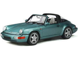 Porsche 911 964 Carrera 4 Targa Turquoise Metallic Limited Edition 999 pieces Worldwide 1/18 Model Car GT Spirit GT805