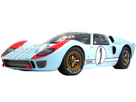 1966 Ford GT40 MKII #1 Ken Miles Denny Hulme 2nd Place 24 Hours of Le Mans 1966 The Masterpiece Collection Limited Edition 324 pieces Worldwide 1/12 Diecast Model Car GMP ACME M1201003