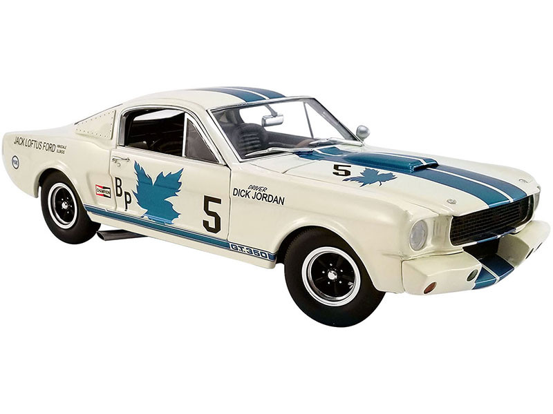 1965 Ford Mustang Shelby G.T.350R #5 Dick Jordan Canadian Champion Limited Edition 480 pieces Worldwide 1/18 Diecast Model Car ACME A1801841