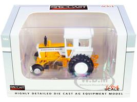 Minneapolis Moline G850 Tractor Cab Yellow White 1/64 Diecast Model SpecCast SCT766