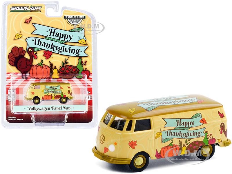 Volkswagen Panel Van Happy Thanksgiving Hobby Exclusive 1/64 Diecast Model Greenlight 30221