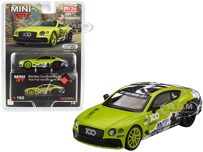 Bentley Continental GT Pikes Peak International Hill Climb 2019 Limited Edition 1800 pieces Worldwide 1/64 Diecast Model Car True Scale Miniatures MGT00162