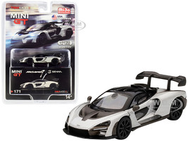 McLaren Senna Silver Limited Edition 1200 pieces Worldwide 1/64 Diecast Model Car True Scale Miniatures MGT00171