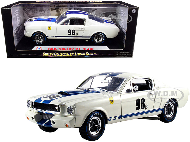 1965 Ford Mustang Shelby GT350R #98B Terlingua Racing Team White Blue Stripes 1/18 Diecast Model Car Shelby Collectibles SC170