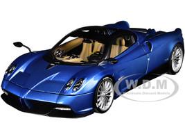 Pagani Huayra Roadster Blue Tricolore Carbon Fiber Black Top Luggage Set 1/18 Model Car Autoart 78286