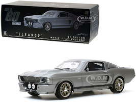 1967 Ford Mustang Custom Eleanor Silver Black Stripes Gone in 60 Seconds 2000 Movie Bespoke Collection 1/12 Model Car Greenlight 12102