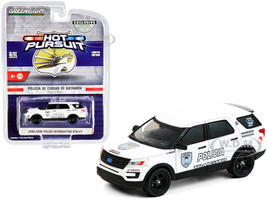 2016 Ford Police Interceptor Utility White Policia Transito Bayamon City Police Department Puerto Rico Hot Pursuit Series 1/64 Diecast Model Car Greenlight 30210