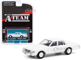 1980 Chevrolet Caprice Classic White The A-Team 1983 1987 TV Series Hollywood Special Edition 1/64 Diecast Model Car Greenlight 44865 C
