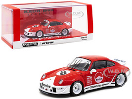 Porsche RWB 993 #8 Morelow Red White RAUH-Welt BEGRIFF 1/43 Diecast Model Car Tarmac Works T43-014-ML