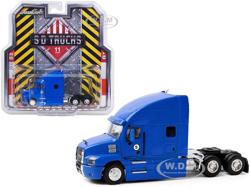 2019 Mack Anthem Truck Cab #5 Blue SD Trucks Series 11 1/64 Diecast Model Greenlight 45110 B
