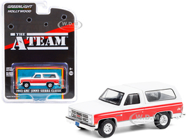 1983 GMC Jimmy Sierra Classic White Red Stripes The A-Team 1983 1987 TV Series Hollywood Special Edition 1/64 Diecast Model Car Greenlight 44865 E