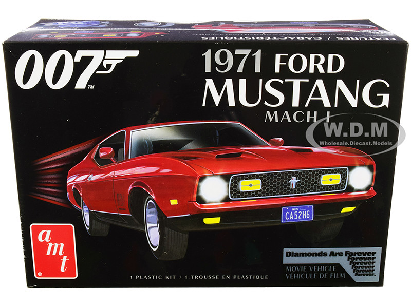 Skill 2 Model Kit 1971 Ford Mustang Mach 1 James Bond 007 Diamonds are Forever 1971 Movie 1/25 Scale Model AMT AMT1187 M