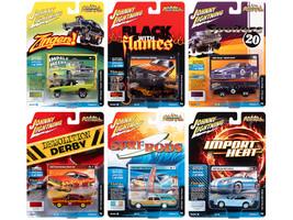 Street Freaks 2020 Set A 6 Cars Release 4 1/64 Diecast Model Cars Johnny Lightning JLSF018 A