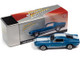 1968 Ford Mustang Shelby GT-350 Acapulco Blue Metallic White Stripes Collector Tin Limited Edition 4540 pieces Worldwide 1/64 Diecast Model Car Johnny Lightning JLCT005 JLSP109 B