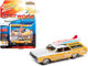 1964 Oldsmobile Vista Cruiser White Pearl Yellow Wood Paneling Two Surfboards Surf Rods Limited Edition 4156 pieces Worldwide 1/64 Diecast Model Car Johnny Lightning JLSF018 JLSP110 B