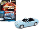 1999 Mazda MX-5 Miata Convertible Light Blue White Stripes Import Heat Limited Edition 4588 pieces Worldwide 1/64 Diecast Model Car Johnny Lightning JLSF018 JLSP111 A