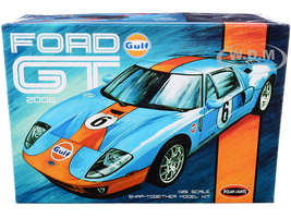 Skill 2 Snap Model Kit 2006 Ford GT Gulf Oil 1/25 Scale Model Polar Lights POL955