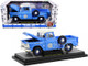 1958 Chevrolet Apache Stepside Pickup Truck Pan Am Ground Crew Light Blue White Top Limited Edition 6880 pieces Worldwide 1/24 Diecast Model Car M2 Machines 40300-81 B
