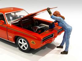 Retro Female Mechanic II Figurine 1/18 Scale Models American Diorama 38245