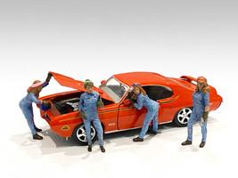 Retro Female Mechanics Figurines 4 piece Set 1/18 Scale Models American Diorama 38244 38245 38246 38247