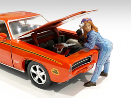 Retro Female Mechanic I Figurine 1/24 Scale Models American Diorama 38344