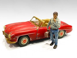 Auto Mechanic Chain Smoker Larry Figurine 1/24 Scale Models American Diorama 76361