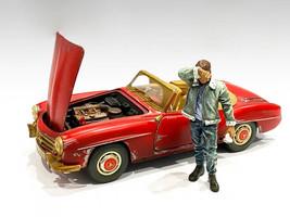 Auto Mechanic Sweating Joe Figurine 1/24 Scale Models American Diorama 76362